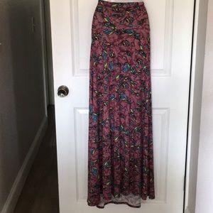 New! LuLaRoe feather print maxi skirt